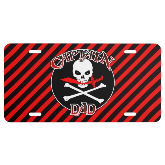 Captain Dad License Plate