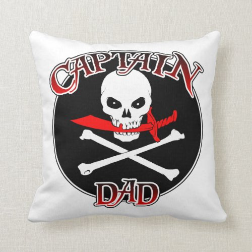 Captain Dad Throw Pillow
