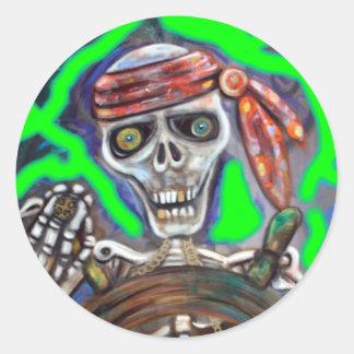 Captain Death Classic Round Sticker