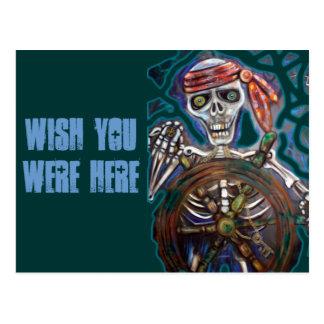 Captain Death Postcard