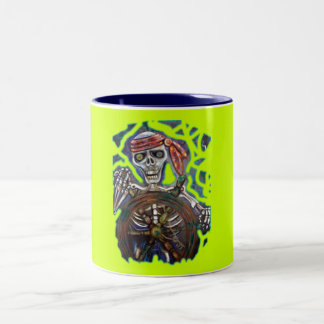 Captain Death Two-Tone Coffee Mug