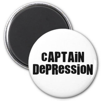 Captain Depression Fridge Magnet