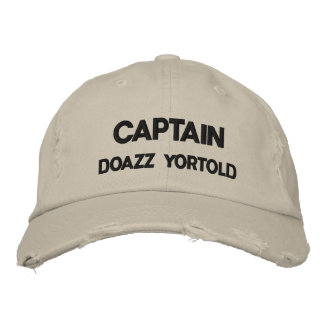 CAPTAIN DOAZZ YORTOLD EMBROIDERED HAT