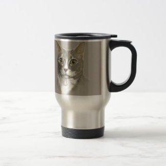Captain domestic short hair cat travel mug