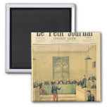 Captain Dreyfus  before the Court Martial 2 Inch Square Magnet