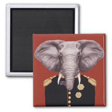 Captain Elephant Magnet