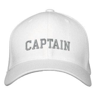 Captain en gris en cap|hat bordado el deporte blan gorra bordada