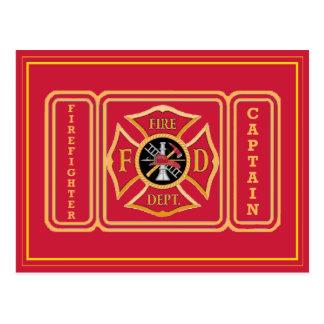 Captain Firefighter Postcards