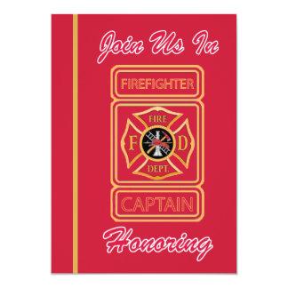 Captain Firefighter Retirement Invitation
