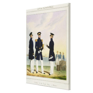 Captain, Flag Officer and Commander (Undress) plat Gallery Wrap Canvas