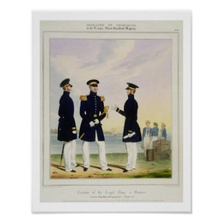 Captain, Flag Officer and Commander (Undress) plat Poster