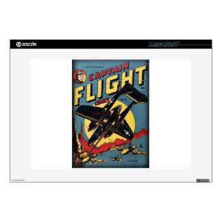"Captain Flight Vintage Golden Age Comic Book Decal For 15"" Laptop"