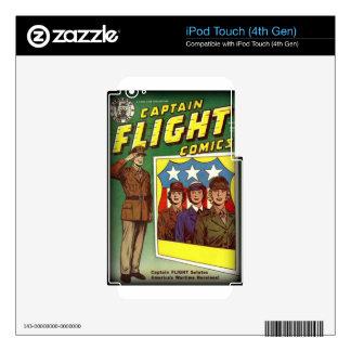 Captain Flight Vintage Golden Age Comic Book iPod Touch 4G Skin