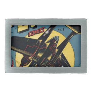 Captain Flight Vintage Golden Age Comic Book Rectangular Belt Buckle