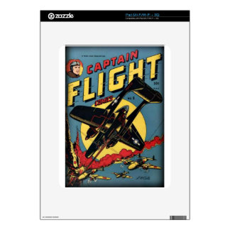 Captain Flight Vintage Golden Age Comic Book Skin For iPad