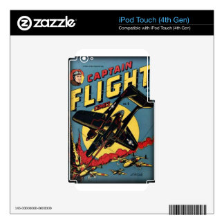 Captain Flight Vintage Golden Age Comic Book Skin For iPod Touch 4G