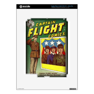 Captain Flight Vintage Golden Age Comic Book Skins For iPad 3