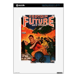 Captain Future and the Volcano Decal For iPad 3