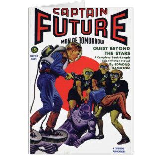 Captain Future Greeting Card