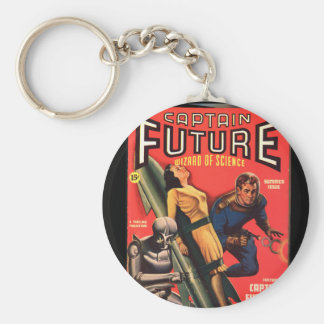 Captain Future_Pulp Art Keychain