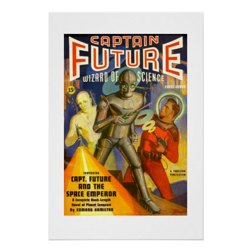 Captain Future pulp cover poster