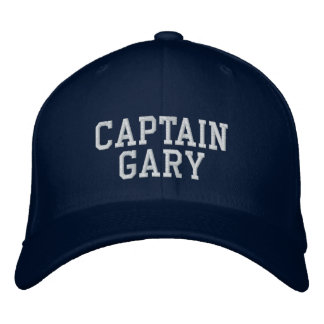 Captain Gary Embroidered Hats