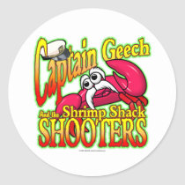Captain Geech Classic Round Sticker