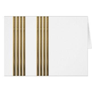 Captain gold stripes card
