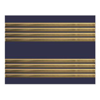 Captain gold stripes postcard