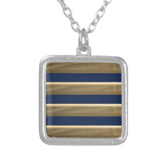 Captain gold stripes silver plated necklace