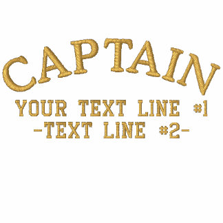 Captain Golden Star Anchor Your Text and initials Polo Shirt