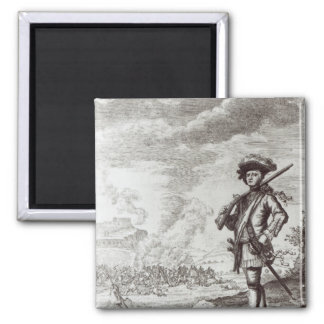 Captain Henry Morgan at the sack 2 Inch Square Magnet