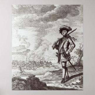Captain Henry Morgan at the sack Poster