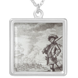 Captain Henry Morgan at the sack Silver Plated Necklace
