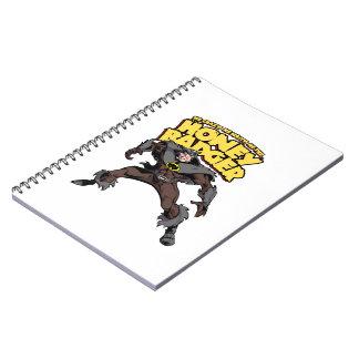 Captain Honey Badger Don t Care Spiral Note Books