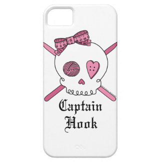 """Captain Hook"" Crochet Hook Skull iPhone 5 Case"