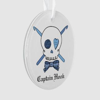 Captain Hook - Crochet Skull (Blue)