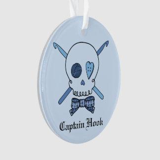 Captain Hook - Crochet Skull (Blue Back)