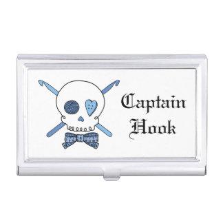 Captain Hook - Crochet Skull (Blue) Case For Business Cards