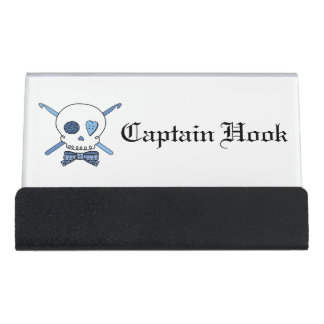 Captain Hook -Crochet Skull (Bow Tie) Desk Business Card Holder