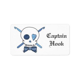 Captain Hook Crochet Skull (Bow Tie) Label
