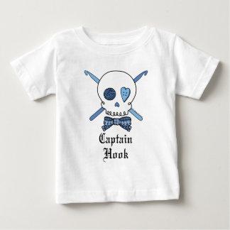 Captain Hook Skull & Crochet Hooks (Blue) Baby T-Shirt