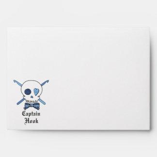 Captain Hook Skull & Crochet Hooks (Blue Back) Envelopes