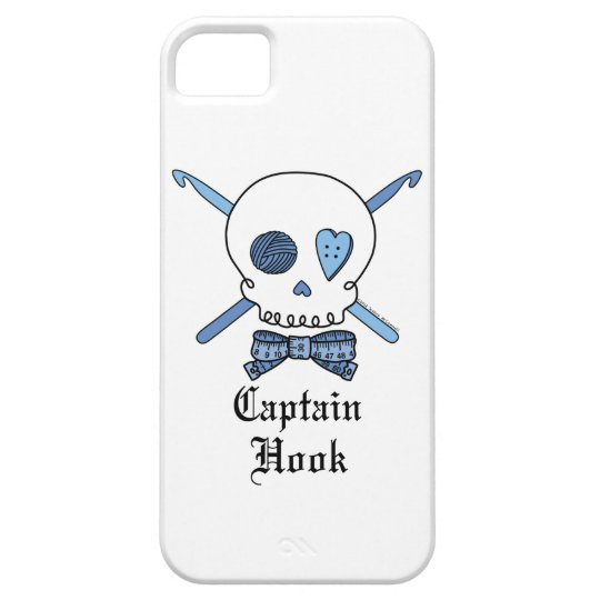 Captain Hook Skull & Crochet Hooks (Blue) iPhone SE/5/5s Case