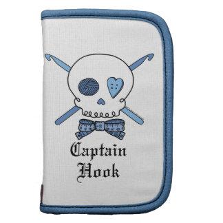 Captain Hook Skull & Crochet Hooks (Blue) Folio Planners