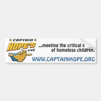 Captain Hope Bear Bumper Sticker