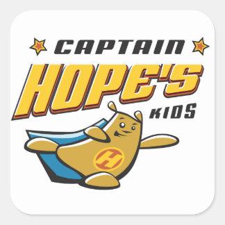 Captain Hope Bear Square Sticker