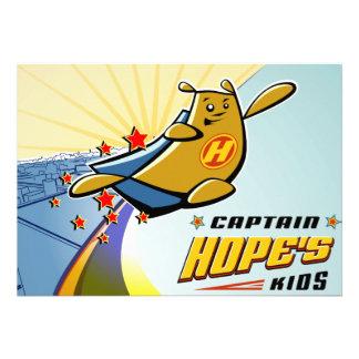 Captain Hope Cityscape Custom Invitation