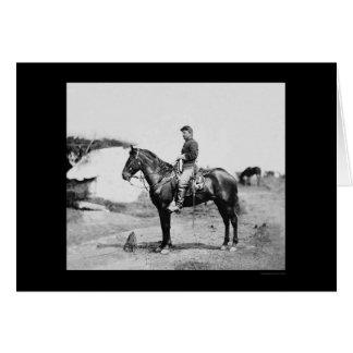 Captain Howard on Horseback at Falmouth 1863 Card