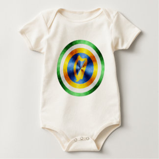 Captain Ireland Hero Shield Baby Bodysuit